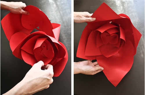 Large paper flower tutorial large paper flowers tutorial free mightylinksfo