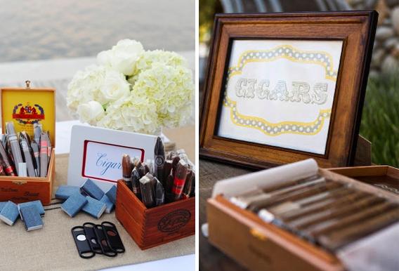 Fun Reception Ideas: Cigar Bar! - R P Scissors Blog