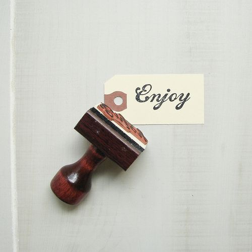 Enjoy-rubber-stamp