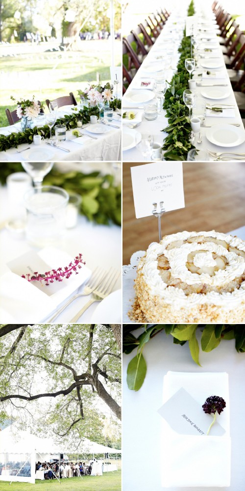 simple-wedding-centerpiece-leaves-greenery