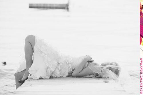 beautiful-bride-pier-dock-sunset-trash-the-dress-inspiration