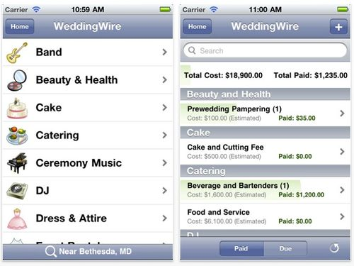 This app is a companion to the Wedding Wire website and can sync with your