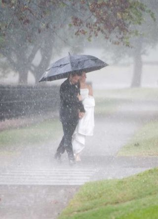 Austin Wedding Rain Photo