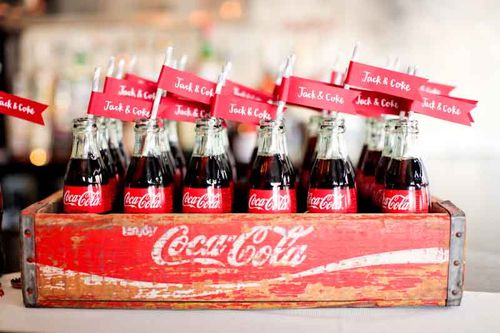 vintage-Coca Cola-Jack and coke-bar-inspiration-wedding