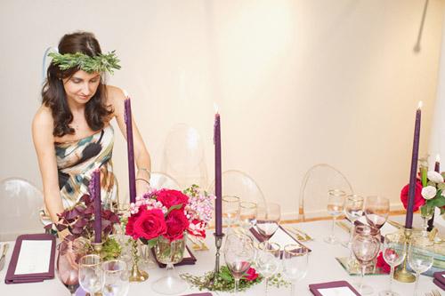 eggplant-tapered-candle-fairytale-table-ara-farnam