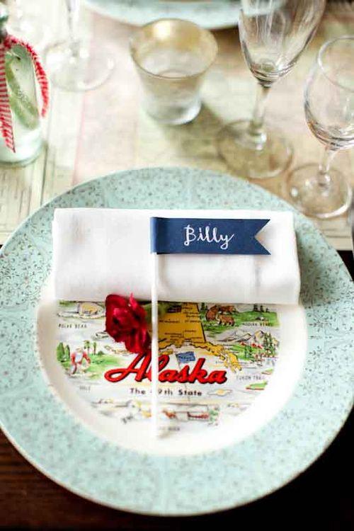 table-setting-inspiration-state-plate-Alaska-road trip-travel-wedding