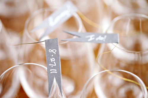wedding-flag-decor-champagne-glass-date
