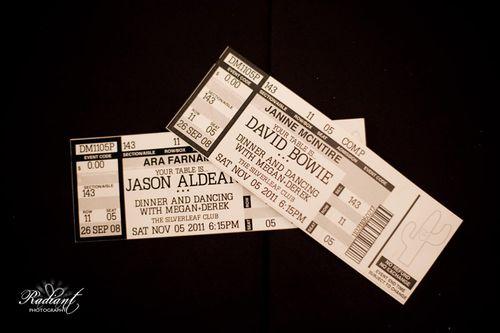 concert-ticket-wedding-escort-cards