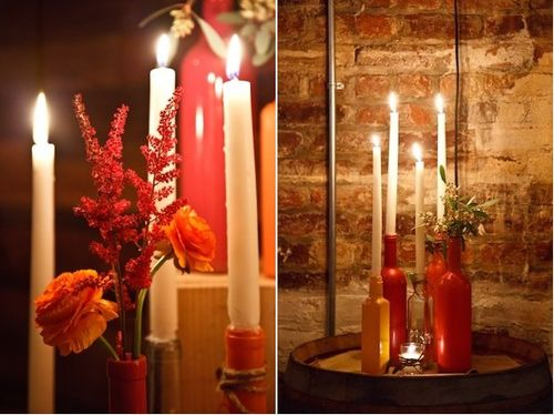 Candles-In-Painted-Wine-Bottles-tapers