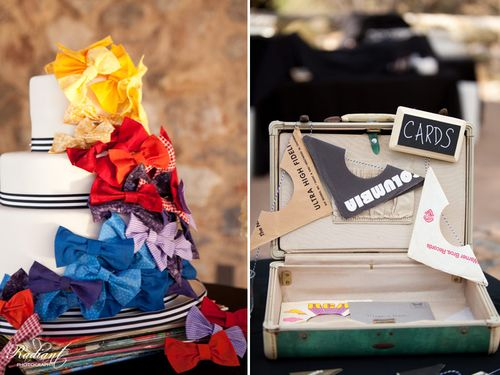 bow-tie-cake-suitcase-card-holder-wedding