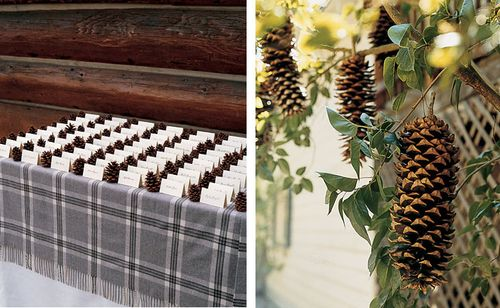 Pinecone-Escort-Cards-hanging-pinecone-decor-weddings