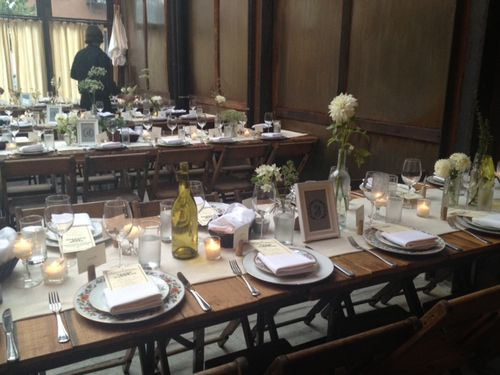 Brooklyn-Winery-Table-Flowers-Rustic-Wedding