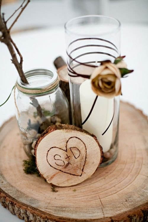 rustic-wood-wedding-decor-ideas-centerpiece-wood-wedding