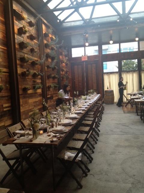Brooklyn-Winery-Long-Table-Setting-Rustic-Wedding