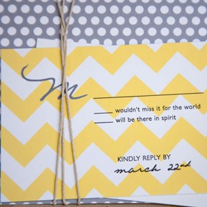 patterned-invitation-chevron-print-invitation-polka-dots