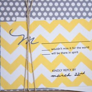 patterned-invitation-chevron-print-invitation-polka-dots