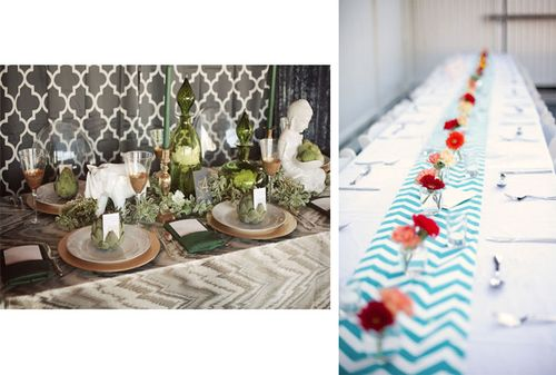 chevron table runner wedding printed table runners