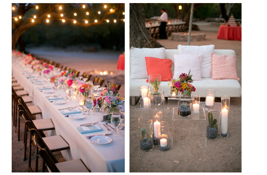 dessert-wedding-long-tables-string-lights-lounge-peach